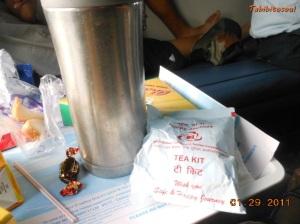 Água quente e kit para café/chá