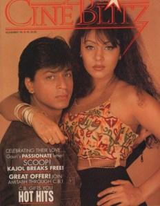 Gauri nos primórdios de sua carreira junto com Sharukh Khan