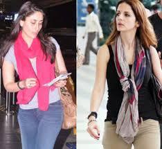 Duas super famosas celebridades indianas e seus lenços.