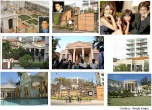As casas dos famosos