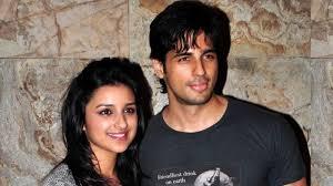 Os jovens atores Parineeti Chopra e Siddarth Malhotra