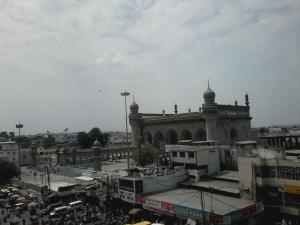 Vista do Charminar para Makkah Masjid