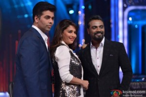 Karan-Johar-Madhuri-Dixit-and-Remo-D-souza-at-Jhalak-Dikhla-Jaa-Season-6-Goes-on-Floors-560x374